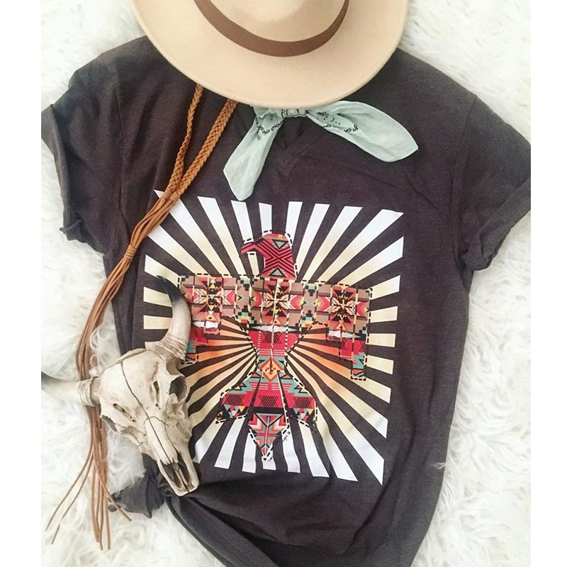 Womens Casual Female Tshirt Plus Size Tops  Shirt Not My First Rodeo Cowboy Bull T-shirts Tee Vintage Top