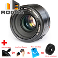 Yongnuo EF 50mm F/1.8 1:2 Auto Focus Large Aperture Lens Suit For Canon EF DSLR +cleaning pen +Dust Cleaner +lens bag+Lens Hood