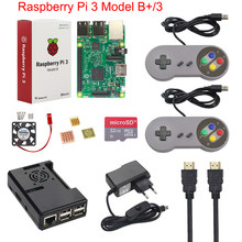 Raspberry Pi 3 Model B+ Plus Game Starter Kit +16G 32G SD Card + Gamepad + Case +Fan + Power +Heat Sink +HDMI Cable for RetroPie(China)