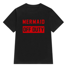 IMC Women's New Summer 'Mermaid Off Duty' Letter Print T Shirts Casual Short Sleeve O-neck T-shirts Fashion Clothing Pullover