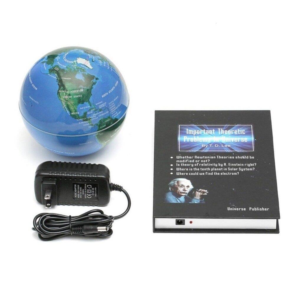 Innovant 3 pouces livre lévitation magnétique flottant Anti gravité Globe carte du monde magnétique rotation Globe décoloration