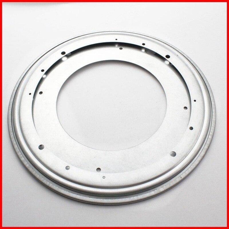12 pollici Nuovo Round rotante giradischi Lazy Susan Cuscinetti A Sfera In Metallo Piastra di base Girevole per sedia da tavolo display stand