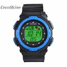 CocoShine A-918 Waterproof Men's LED Digital Stopwatch Date Rubber Sport Wrist Watch Fashion wholesale