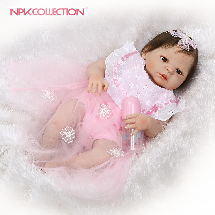 NPK reborn doll with soft real gentle touch new design girl gender doll pink clothes doll best gift for your daughters
