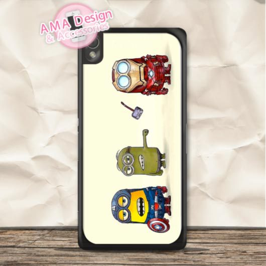 Superhero Lovely Cute Minioo Case For Sony Xperia Z5 Z4 Z3 Z2 Z1 compact Z C3 C T3 T2 E4 SP M4 M2