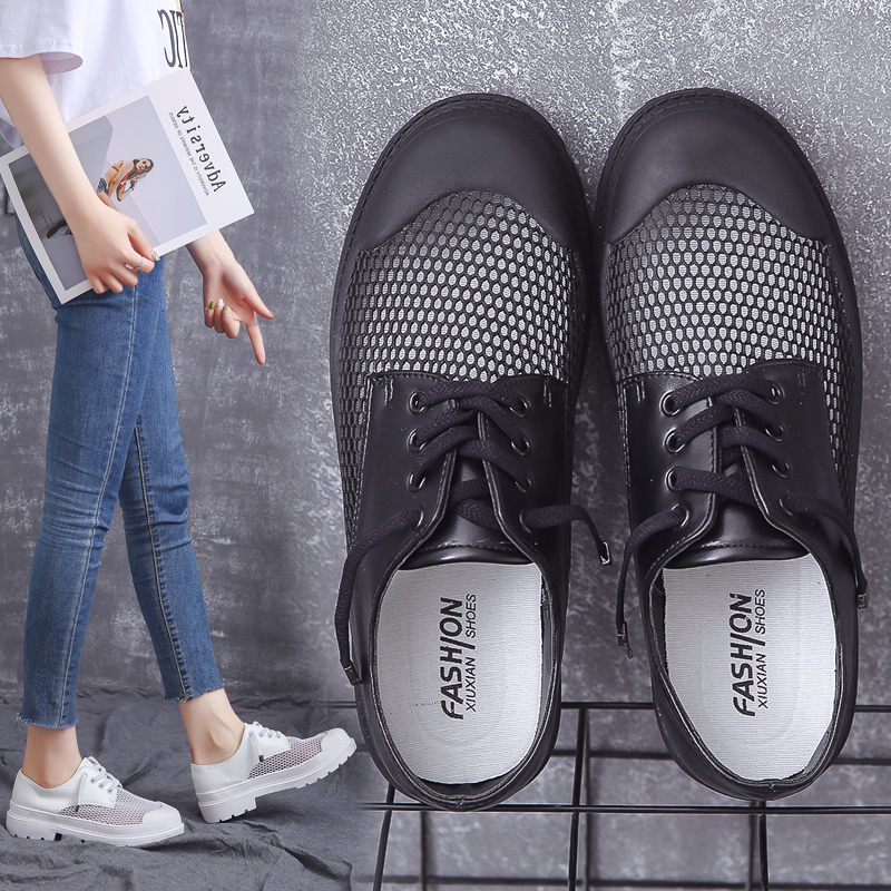Summer New Women Casual Chunky Sneakers 2019 New Breathable Mesh Candy Colors Platform Sneakers Casual Lace up Wild Women Shoes in Women 39 s Vulcanize Shoes from Shoes