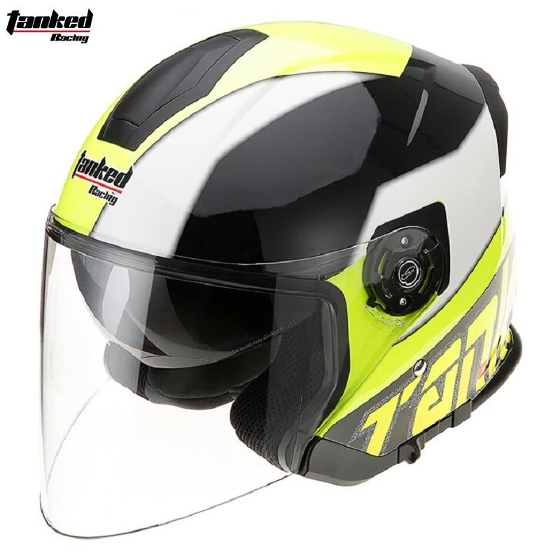 4f3fc8aae5d5 Мотоцикл открыть шлем два объектива мотоцикл мотокросс шлем с внутренним  козырек полный шлем Каско Capacete ECE