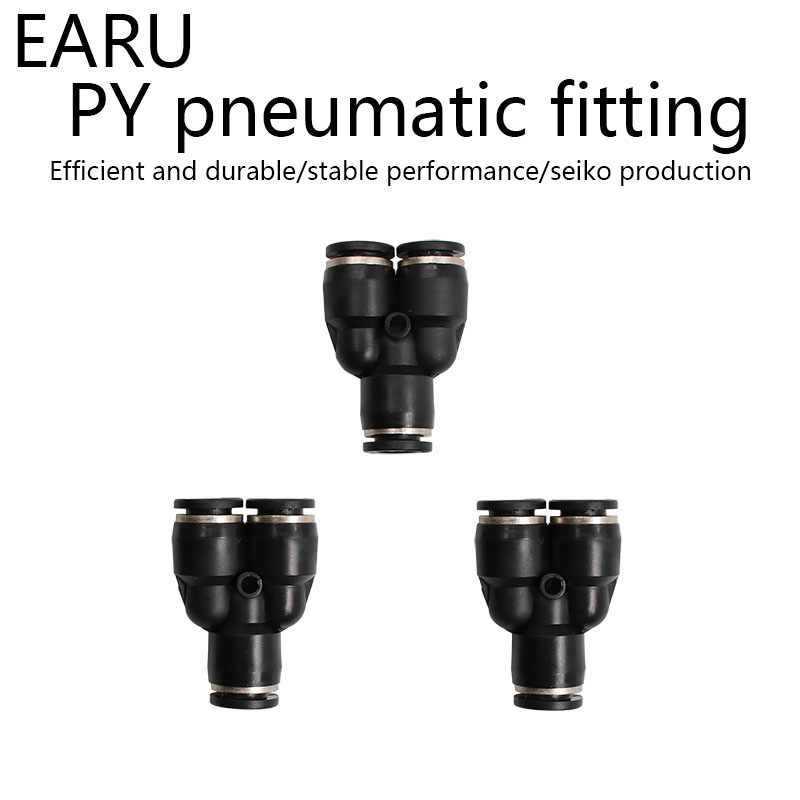 3 Way Port Y Shape Air Pneumatic 12mm 8mm 10mm 6mm 4mm OD Hose Tube Push in Gas Plastic Pipe Fitting Connectors Quick Fittings