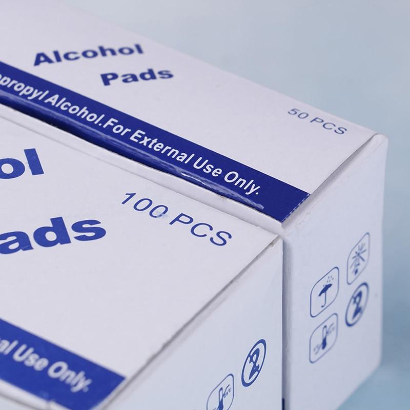 Image 5 - 50/100pcs Alcohol Wipe Pad Nail Art Medical Swab Sachet Antibacterial Tool Cleanser RemoverCotton Swabs