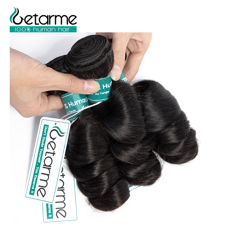Indian Loose Wave Human Hair Bundles Deals Non Remy Human Hair