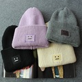 Winter Unisex Knitted Hat Square Smile Faces Beanies Thicken Warm Caps Hip Hop Gorro Cappelli