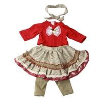 Yeni 18-inch Amerikalı Kız Bebek Elbise Moda Etek Elbise Için 18