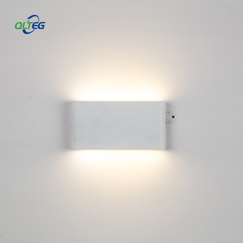 QLTEG 6W 12W Wall Lamps Modern Up Down Dual-Head indoor Outdoor Lighting contract COB LED Wall Light IP65 Waterproof AC 85-265V black led wall light waterproof ip65 stainless steel up down gu10 double wall lamp indoor outdoor wall lamp ac 85 265v