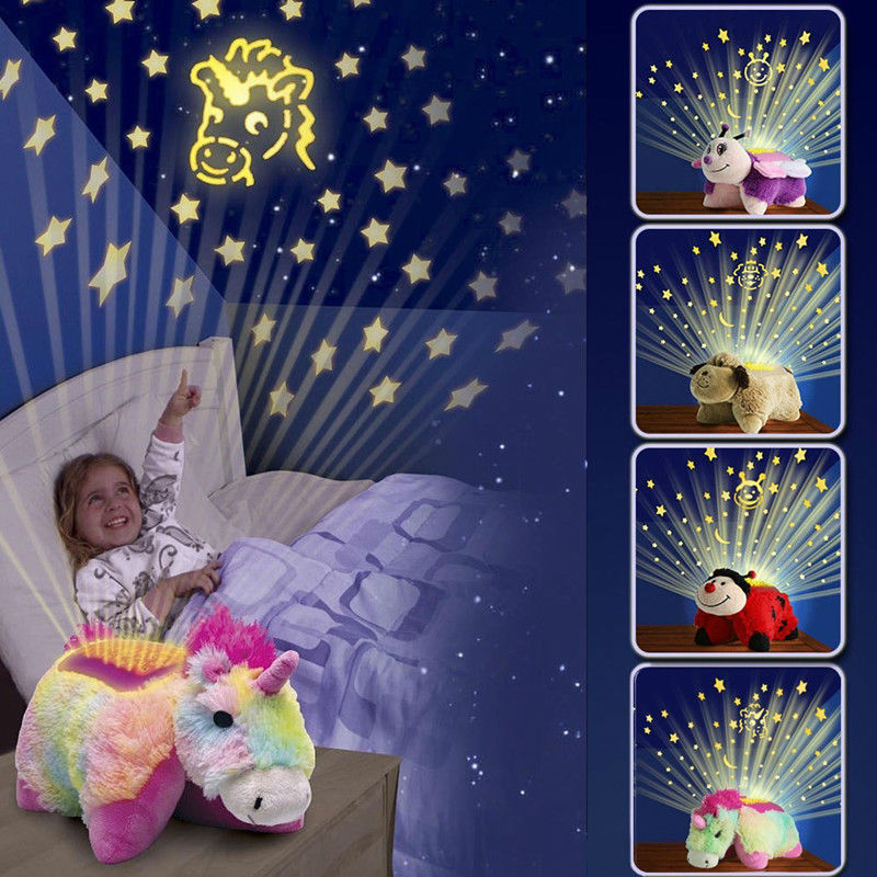 hot led toys luminous cuddle pet dream pillow with starry sky sleep light glow in the dark for kids