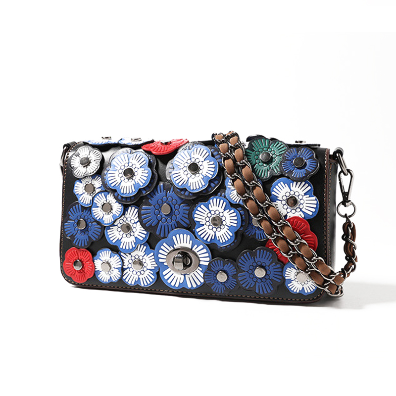 Women 3D Flower Women' Small Messenger Bag Fashion Chain Shoulder Bags Fashion G