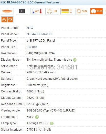 Купить с кэшбэком NL6448BC26-26D  8.4 inch Industrial LCD, new& A+ Grade, in stock