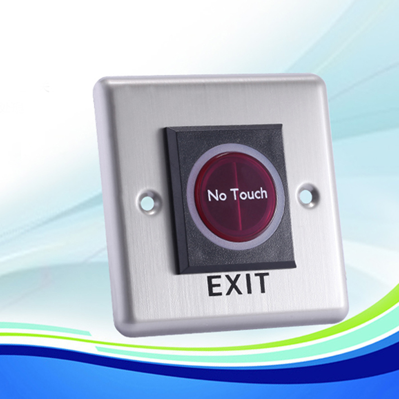 REDEAGLE IR Exit Button Infrared Sensor No Touch Push Switch For Door Access Control System Door Square IR Exit Button square access control touch exit button nc no com 86 86mm plastic exit push release button switch for door access control system
