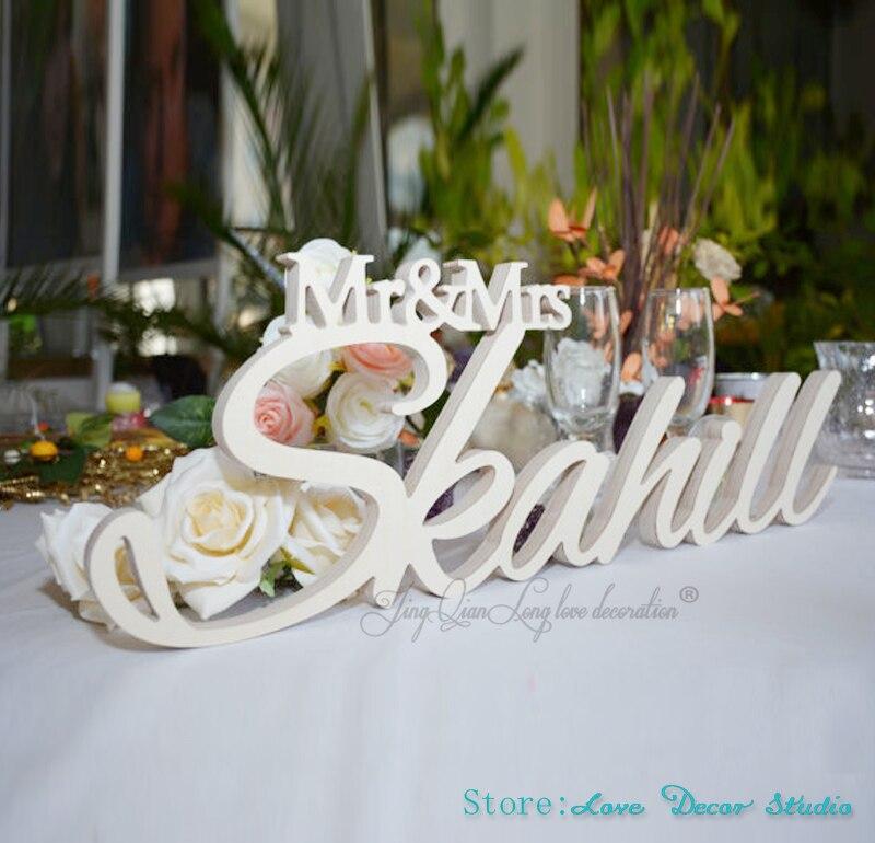 Benutzerdefinierte große größe Mr & Mrs Mit Letzten Name-Mr und Mrs Letzten Name Tisch Zeichen-Personalisierte Hochzeit zeichen Mr und Mrs zeichen