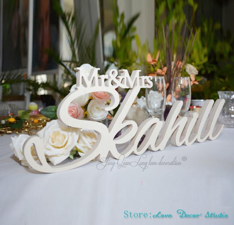 Grandi dimensioni personalizzato Mr & Mrs Con Cognome-Mr e Mrs Cognome Tavolo Sign-di Nozze Personalizzati Segno Mr e Mrs segno