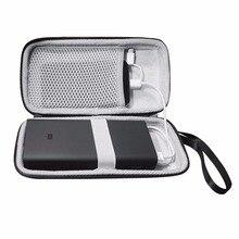 Capa dura eva para xiaomi power bank 3 20000 20000mah, proteção portátil externa de bateria de celular sacos de sacos