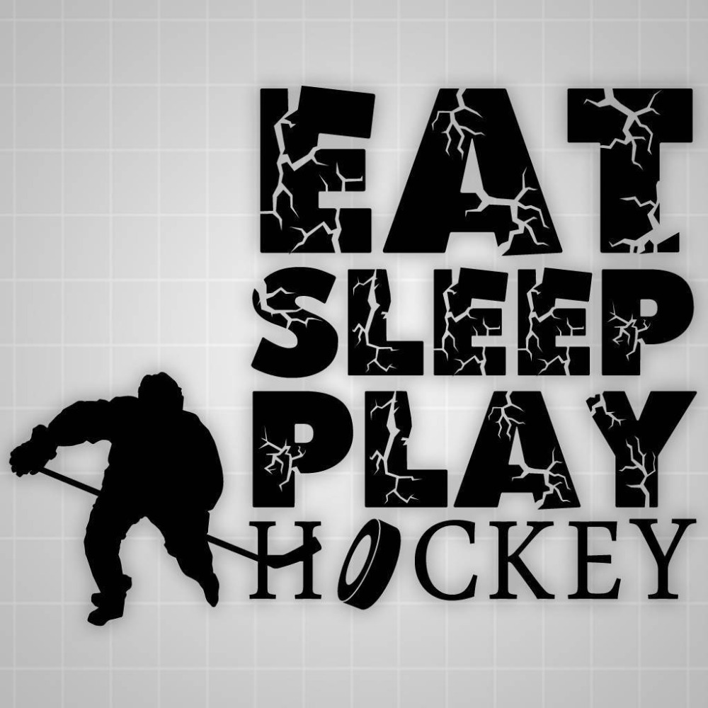 online buy wholesale hockey wall murals from china hockey wall eat sleep play hockey quote wall decal personality vinyl wall stickers boy bedroom decal wall stencil