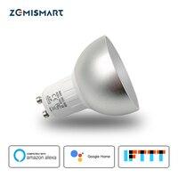 Gu10 LED WiFi Bulb Alexa Google Home Assistant IFTTT Tuya Smart Life APP Remote Control RGB LED Light Dimmer Lamp