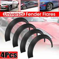 4x Flexible Universal Car Wide For Fender Flares Wheel Arches Extension For BMW F32 F33 F36 E90 E92 E93 For BENZ W205 W204 W203