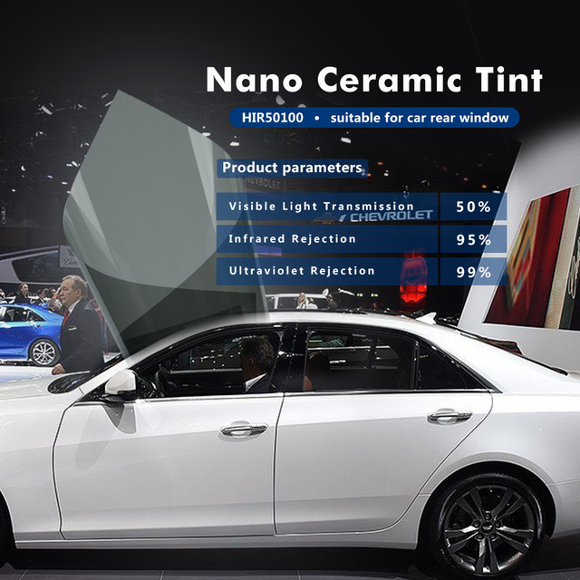 50cmx300cm Car Window Tint Film Glass Vlt 50 Roll 2 Ply