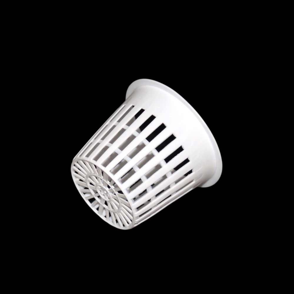 พลาสติก PP Hydroponic ตาข่ายสวน Soilless การเพาะปลูกอุปกรณ์ระเบียงปลูก Nursery Net ถ้วยตะกร้า 1 Pcs