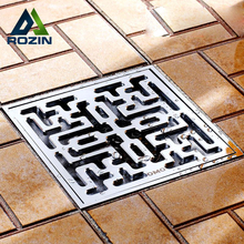 Sale Free Shipping Wholesale And Retail Odor-resistan Floor Drain Brass Chrome Shower Floor Grate Drain