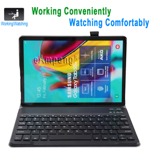 Image 2 - Case for Samsung Galaxy Tab S5e 10.5 Keyboard Case T720 T725 SM T720 Cover Russian Spanish English Bluetooth Keyboard Funda Case