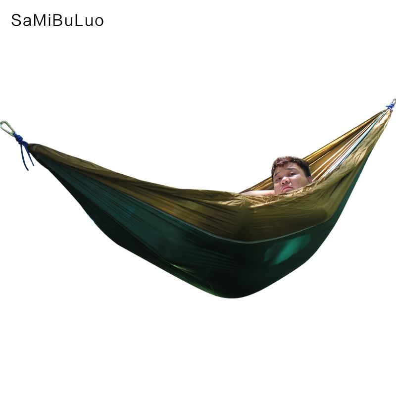 все цены на Hammock Portable Indoor Outdoor Tree Hammock with 2 Hanging Straps Lightweight Parachute Hammocks for Travel Beach Backyard