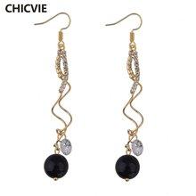 Chicvie новые индивидуальные золотые серьги капли ручной работы