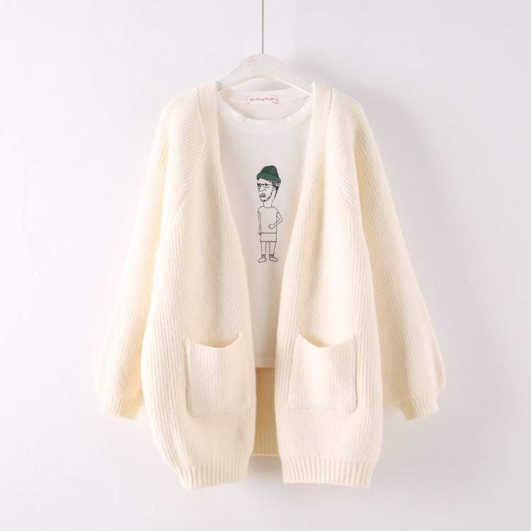 H.SA 2019 Women Oversized Long Sweater Cardigans Solid White Winter WARM Thick Cardigan Mujer Winter Clothes Women Knit Coat