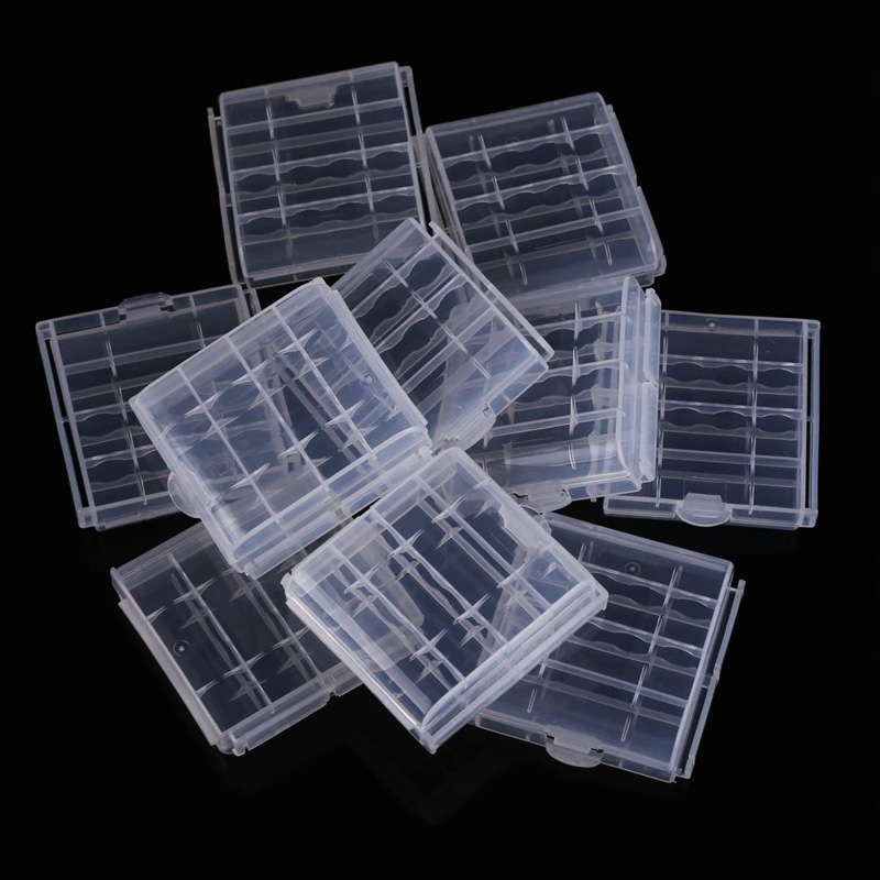 10 Pcs Plastic Case Holder Storage Box Cover For Rechargeable AA And AAA Batteries SGA99810 Pcs Plastic Case Holder Storage Box Cover For Rechargeable AA And AAA Batteries SGA998