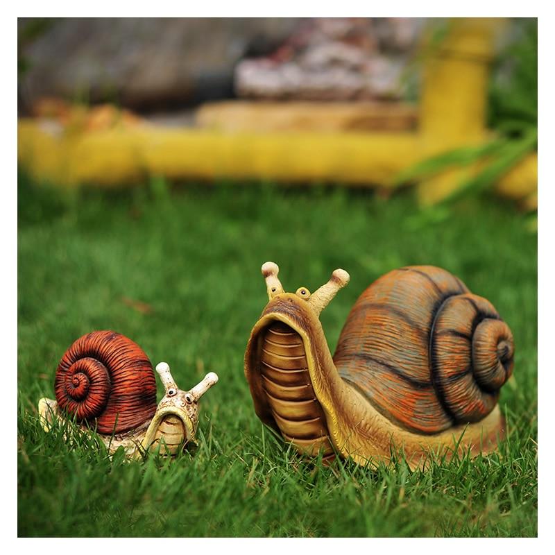 Cute Resin Snail Statue Outdoor Garden Store Bonsai Decorative Animal Sculpture For Home Office Desk Garden Decor Ornament