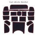 Слот для ворот коврик для межкомнатной двери коврик для чашки для Honda Vezel Нескользящие коврики красный/синий/белый коврики аксессуары для ст...