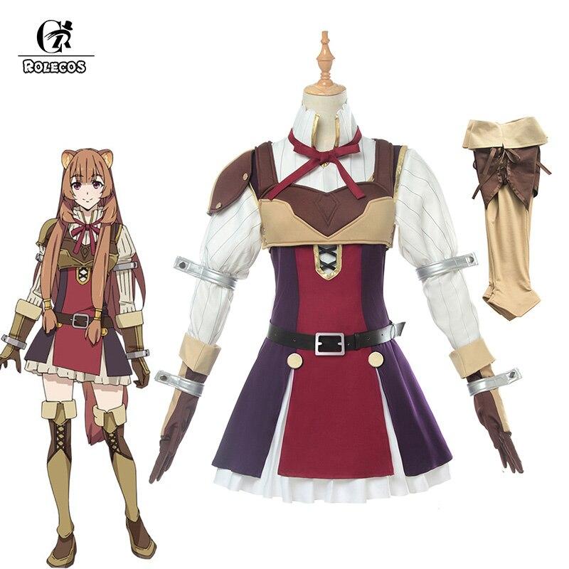 ROLECOS Anime O Aumento do Escudo Herói Tate não Yuusha não Nariagari Raphtalia Cosplay Traje Cosplay Mulheres Vestido Cheio conjunto