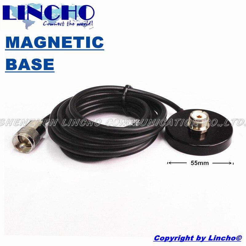 imágenes para 3 metros RG58U SO239 PL259 antena de radio de coche pequeño mini soporte base magnética femenina masculina