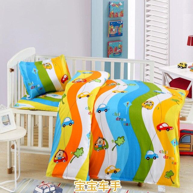 3PCS Baby Bedding Set Cotton Baby Crib Bedding Set For 120*60 Baby Cot Bedding Set Quilt Cover Pillow Case Mattress Cover CP26