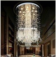 Moderne Luxus Edelstahl Kristall Anhänger Beleuchtung Europäischen Glanz Halle Leuchtet Cristal Lampe GU10 LED Hauptdekorum Beleuchtung