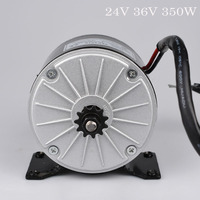 Electric DC Motor 24V 36V 350W Brushed Motor High Speed For Brushed Controller kiti Electric Vehicle Scooter Conversion Kit