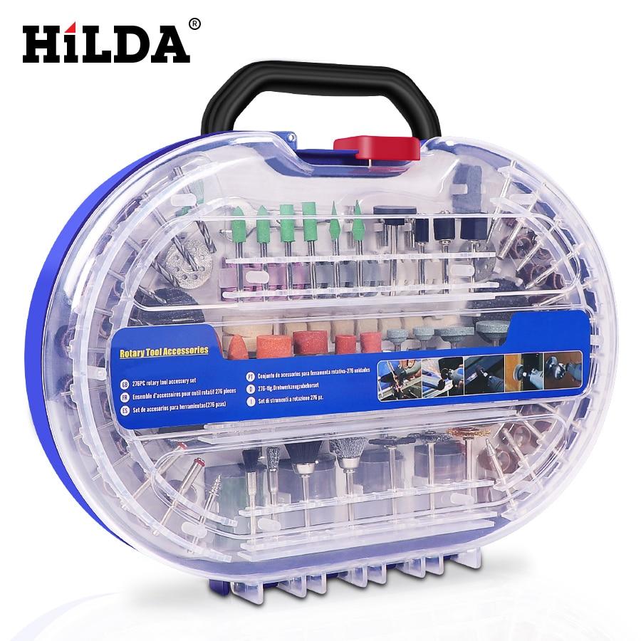 Hilda 276 pcs dremel 용 로타리 공구 비트 세트 연삭 연마 용 연삭 공구 액세서리 연마 도구 키트