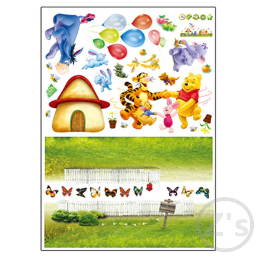 ... Large Size Winnie The Pooh Wall Sticker Home Decor Cartoon Wall Decal  DIY For Kids Room Part 78