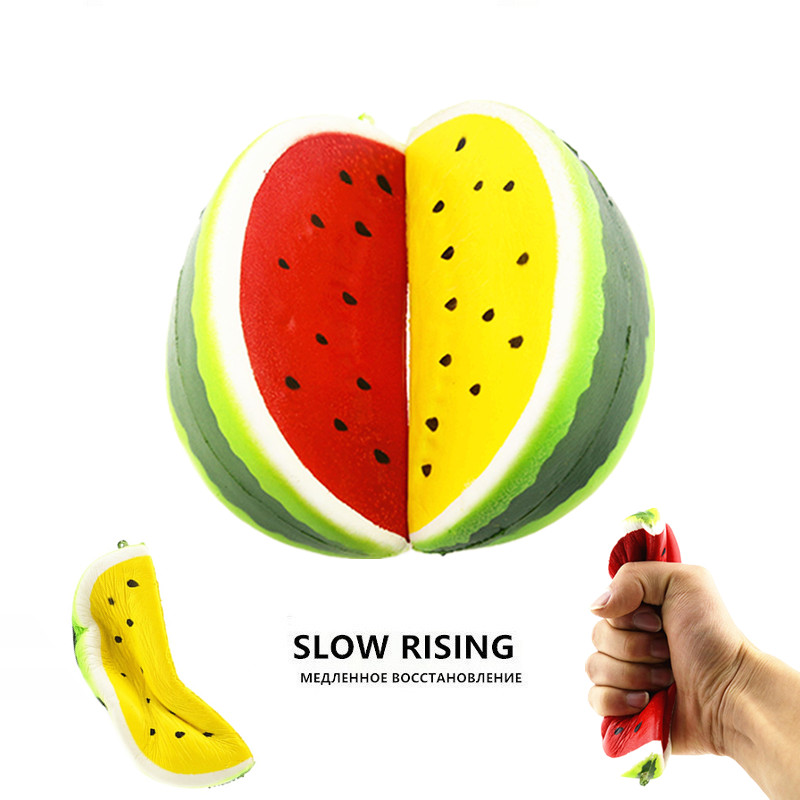Anti-stress Squishy Watermelon Super Slow Rising Squeeze Stretch Bread Cake Kid Toy Gifts