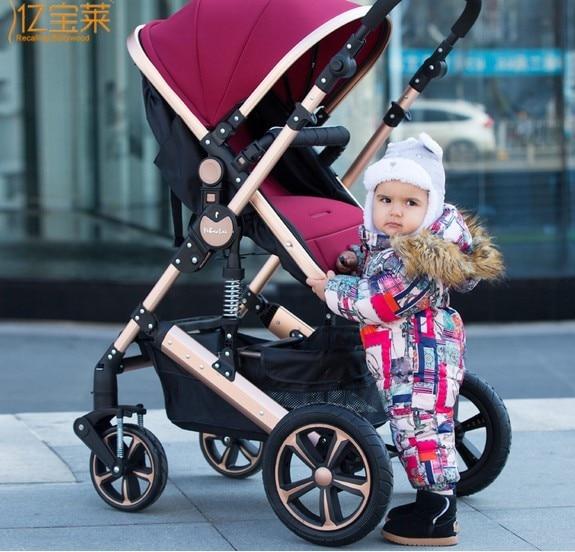 Bora baby stroller suspension folding light four wheel baby bb baby stroller