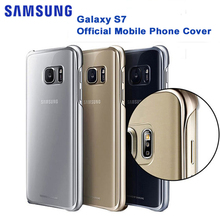 Original SAMSUNG Transparent Protective Shell Phone Cover for Samsung GALAXY S7 G9300 S7 Edge G9350 Ultra Slim Protective Case стоимость