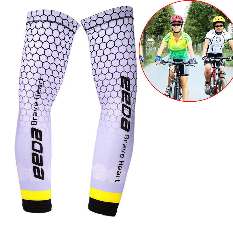 Men Cycling Running Bicycle UV Sun Protection Cuff Cover Protective Arm Sleeve Bike Sport Arm Warmers Sleeves Bicicleta Ciclismo