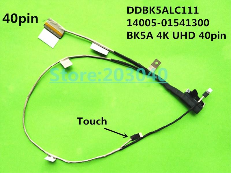 LCD Screen Cable Asus UX501 UX501J N501J N501JM Touch Laptop 40PIN DDBK5ALC111