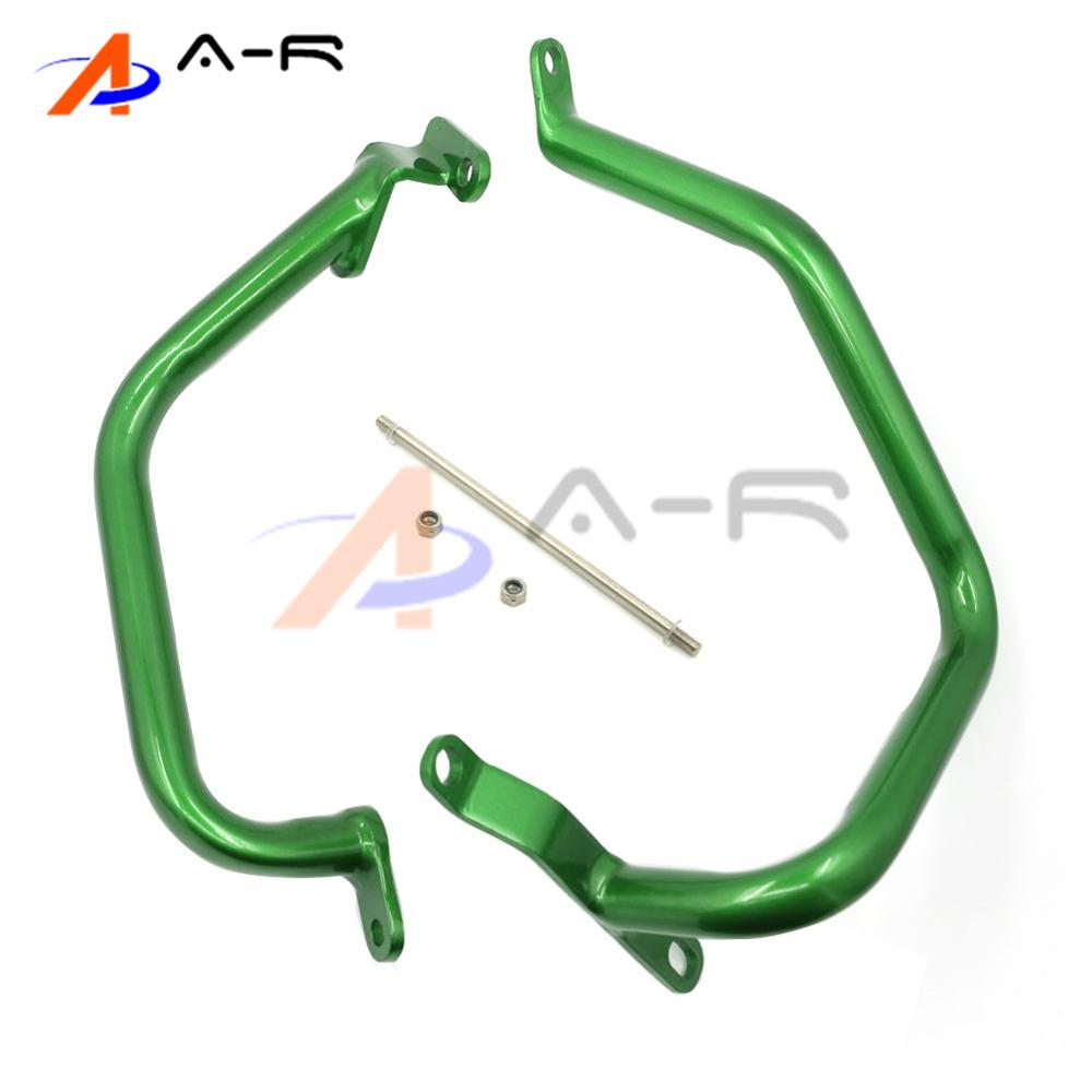 Crash Bar L/R Engine Guard Rail Motorcycle Fence Bumper Front Side Protector for Kawasaki Z1000 2010-2016 Green high quality for bmw r1200gs 2013 2014 2015 motorcycle upper engine guard highway crash bar protector silver